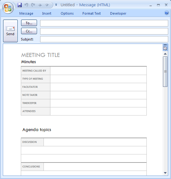 Download Ms Office Meeting Minutes For Email Conference