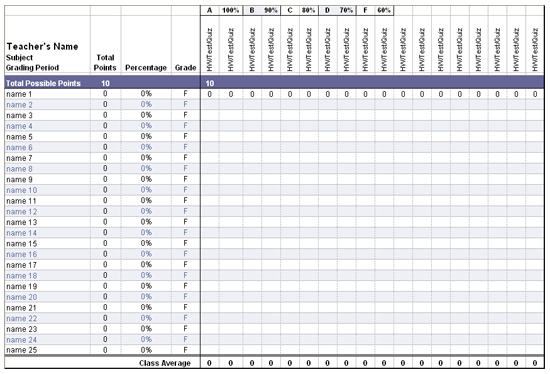 free gradebook template - agendas templates electronic teacher gradebook middle and