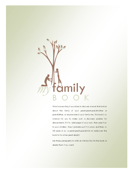 Family tree template family tree template book for Ancestry book templates