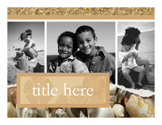 Vacation Photo Album (sand And Shells Design)