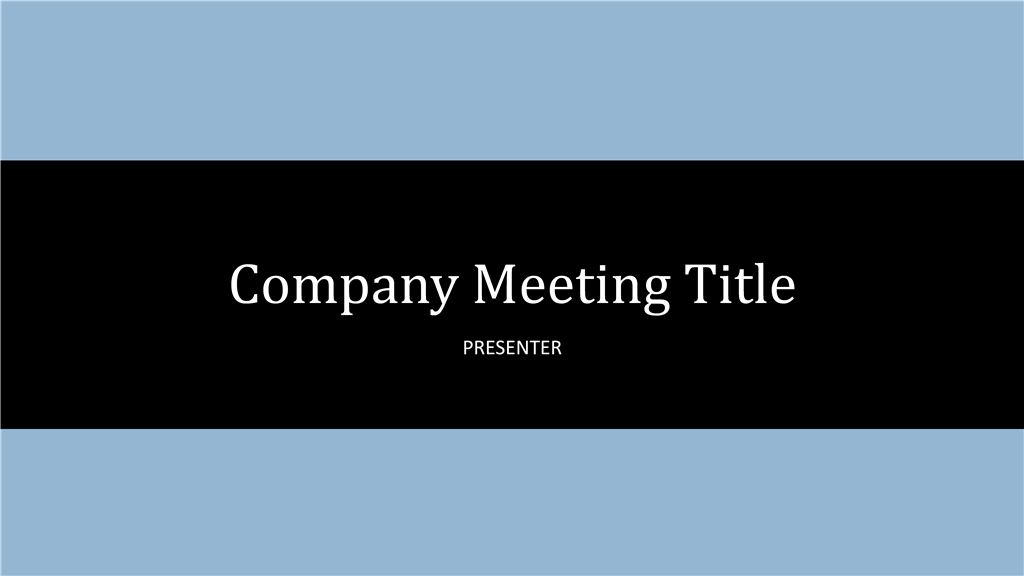 Company Sales Meeting Agenda Sample