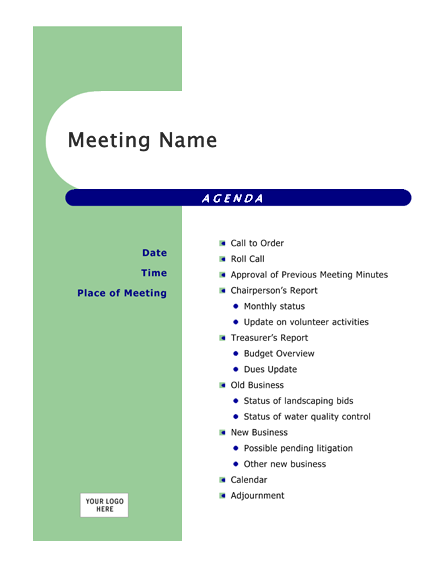 Download Ms Office Agenda (Capsules design) Conference Meeting Agenda ...
