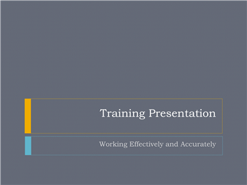 Agenda Training Seminar Presentation