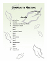 Community Meeting Agenda Leaf Background