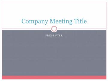 Company Background Presentation