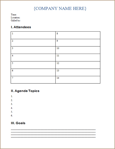 Download Ms Office Meeting Agenda Conference Meeting Agenda And