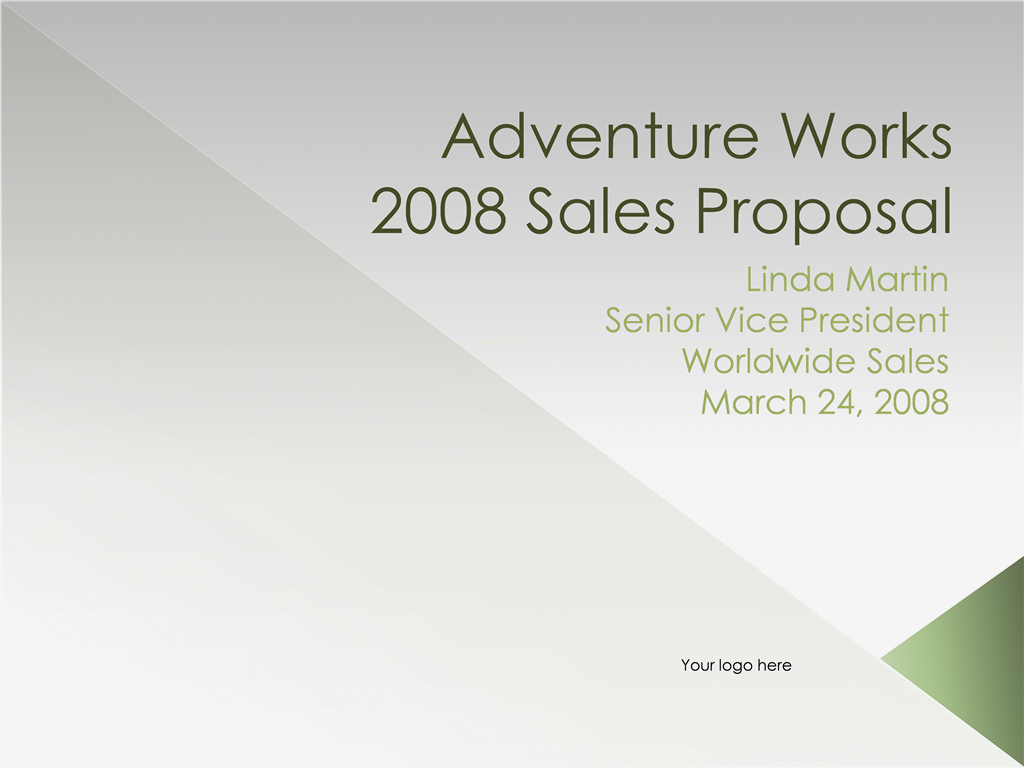Proposal Presentation Sales Meeting Agenda Template  Microsoft Office Proposal Templates