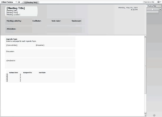 template for meeting minutes with action items