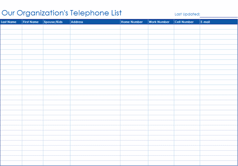 Doc550425 Telephone List Template Address and phone list – Telephone List Template